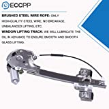 Power Window Regulators Rear Left Drivers Side with Motor Assembly Replacement Parts for 2000-2005 Buick LeSabre