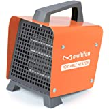 Electric Heater, 1500W Portable Ceramic Space Heater w/Adjustable Thermostat, Space Heater for Desk Office Home Garage…
