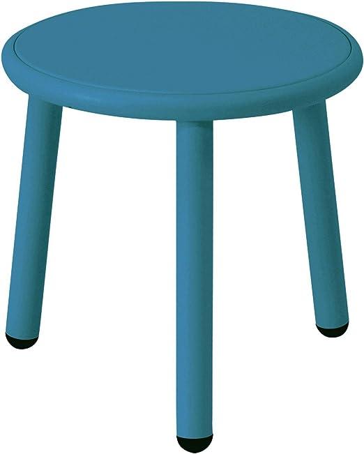 EMU Yard - Mesa Auxiliar de jardín Ø 40cm Azul/Azul/Tablero ...