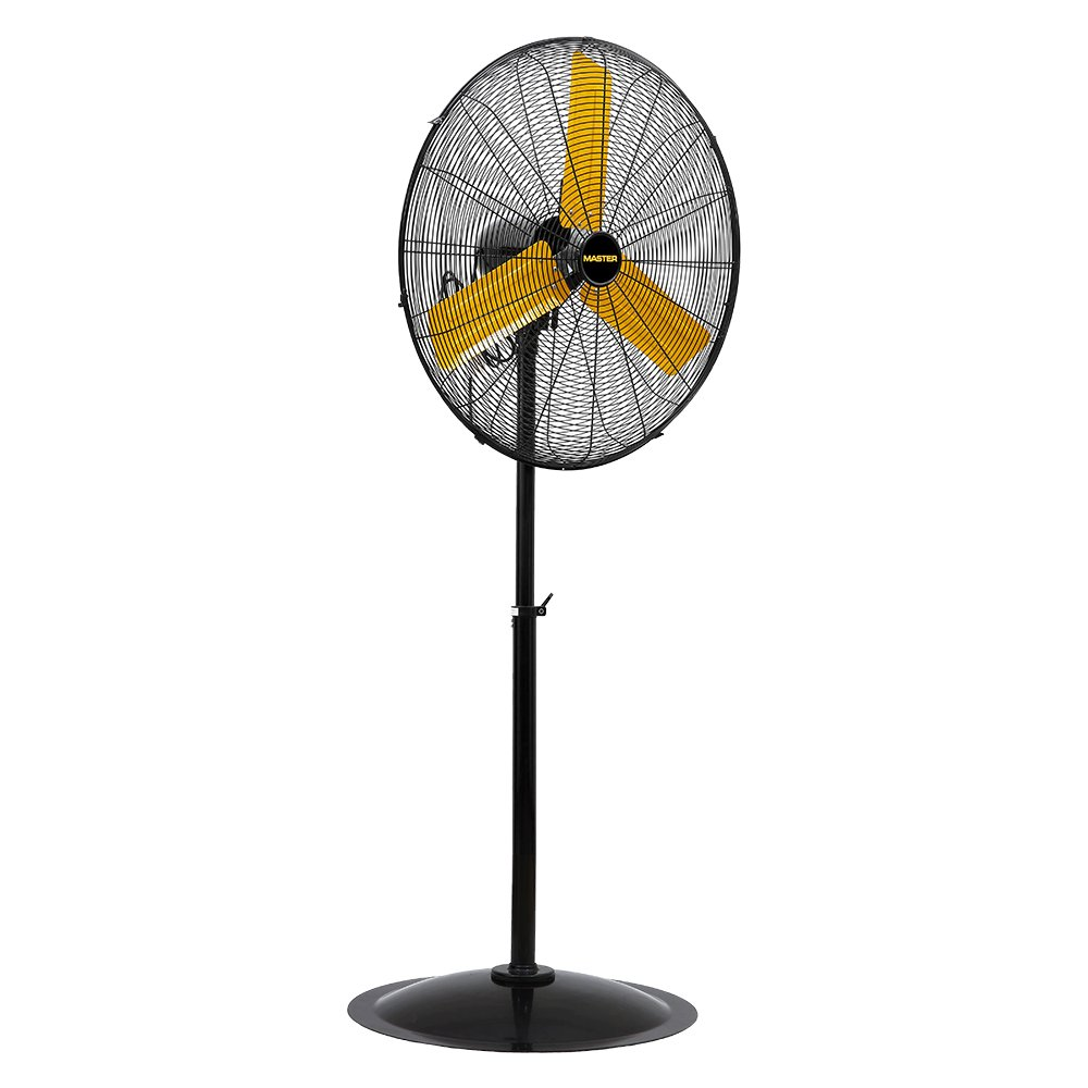 Master PROFESSIONAL 30POSC MAC-30POSC High Velocity Pedestal Fan, 30-inch, Yellow Black