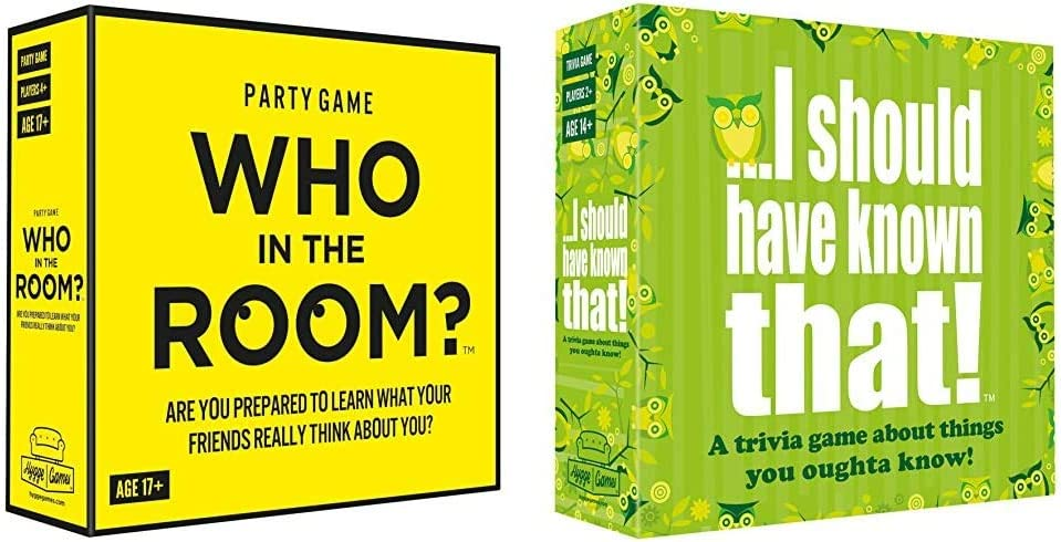 Hygge Games Who in The Room? Party Gamef & ...I Should Have Known That! Trivia Game