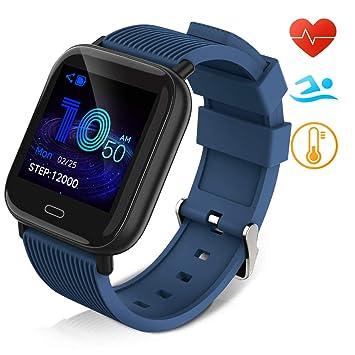 Huyeta Reloj Inteligente Impermeable IP67 Smartwatch Pantalla ...