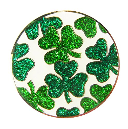 Navika Shamrock Glitzy Ball Marker with Magnetic Hat Clip