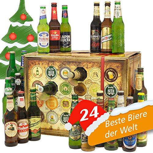Bieradventskalender Welt mit Guiness Extra Stout + Carlsberg Elephant + Peroni + Tuborg + TsingTao + mehr ... Ein tolles Geschenk für Männer. Bierset + Geschenk, Biersorten WELTWEIT. Adventskalender 2016 - mit 24 Biersorten in FLASCHEN Bier Adventskalender Welt 2016 - Adventskalender für Männer, Adventskalender für Erwachsene, Bierkalender Adventskalender Alkohol, Weihnachtskalender mit Bier, Bier Adventskalender International, Weihnachtsgeschenke Bier für Männer