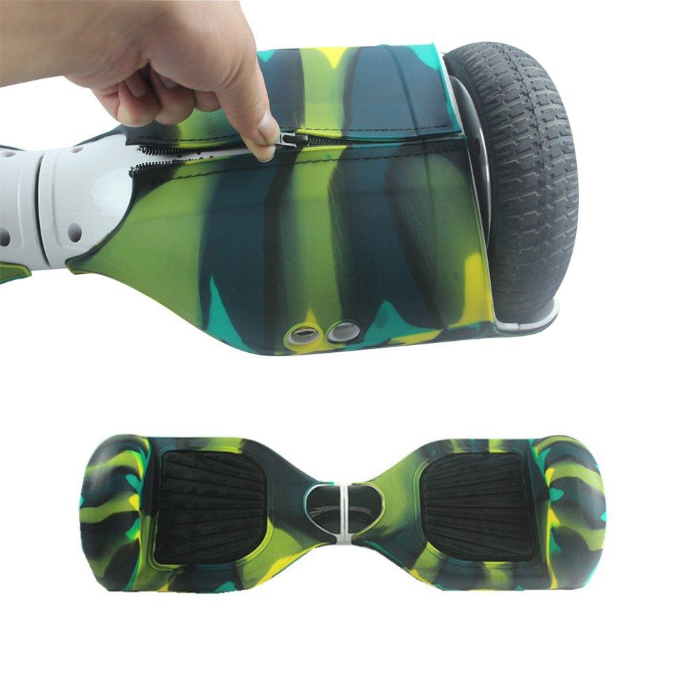 JNCH Reißverschluss Design Silikon Schutzhülle für 6,5 Zoll Smart Self Balancing Elektro Scooter Rutschfest, Kratzfest und Nicht abdeckt die Lichtleisten