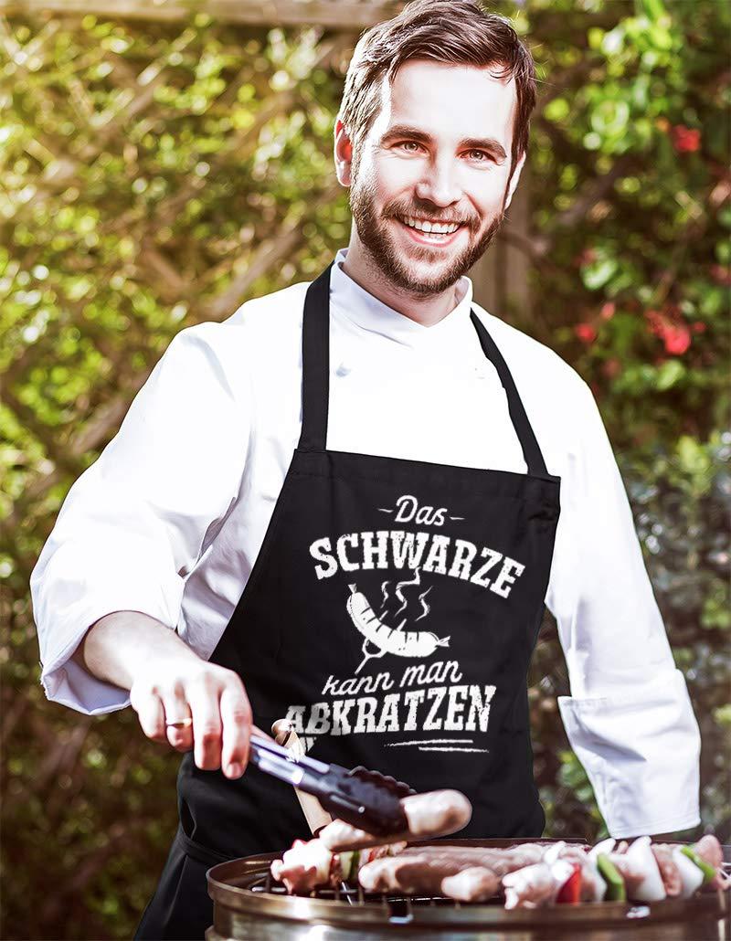 MoonWorks/® Grill-Sch/ürze f/ür M/änner mit Spruch Bundesgrillminister Baumwoll-Sch/ürze K/üchensch/ürze Kochsch/ürze Grillen Barbecue BBQ Fleisch Sommer schwarz Unisize