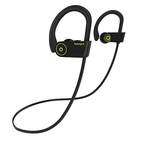 Auriculares Bluetooth 4.1 Inalambricos Yuanguo Cascos Deportivos In Ear Sonido Estéreo con Micrófono y Cancelación de