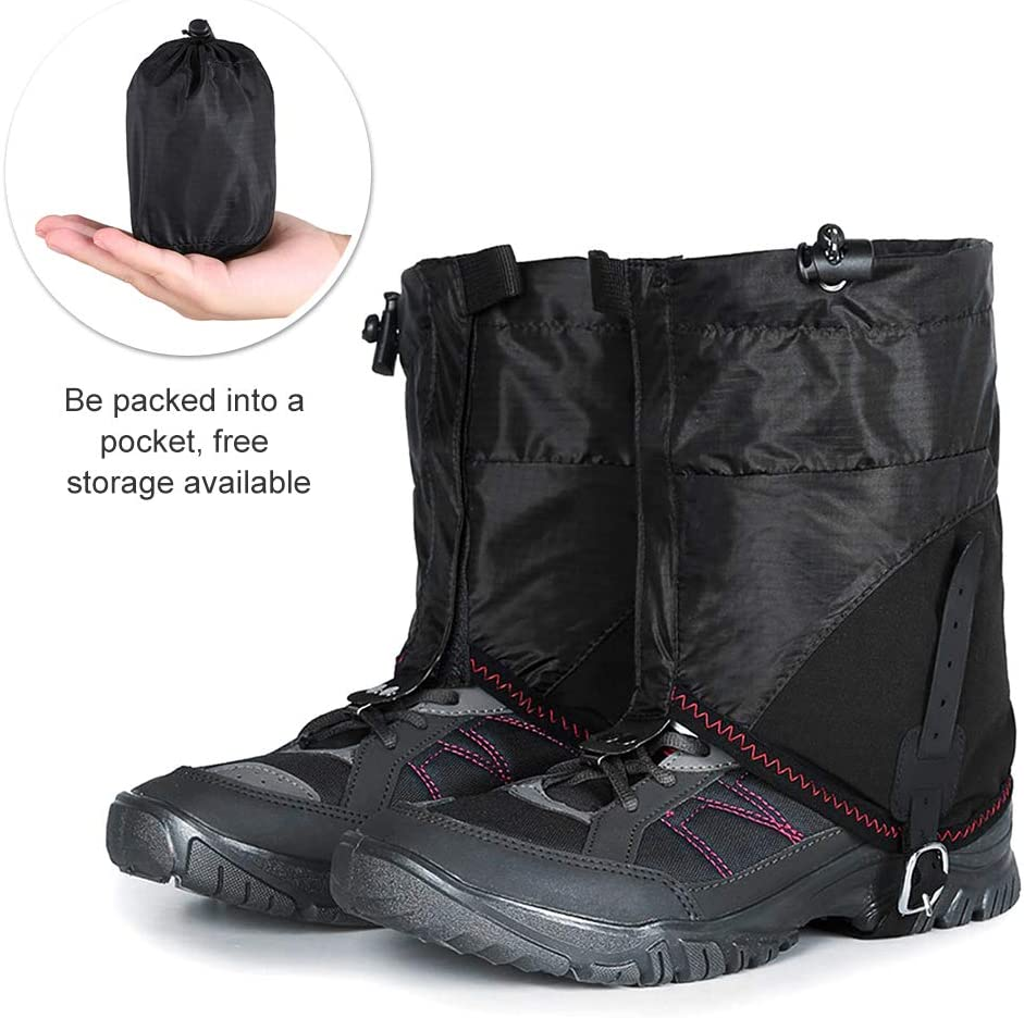 Tickas Outdoor Snow Gaiters Waterproof Short Legs Protection Cover Running Trail Gaiters