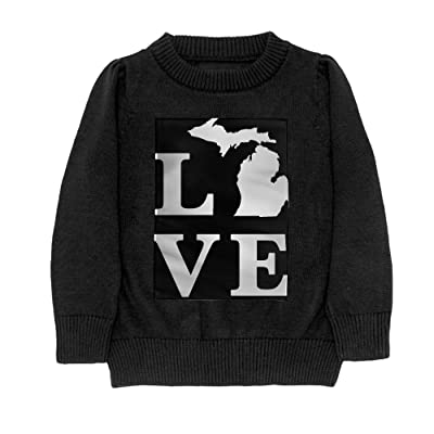dfa73bfd2e19 Hailin Tattoo Daughter Cool Fit Knit Sweater Pullover Printed  Michigan-State Outline-Love Casual Shirt Sweatshirt S-XL Black