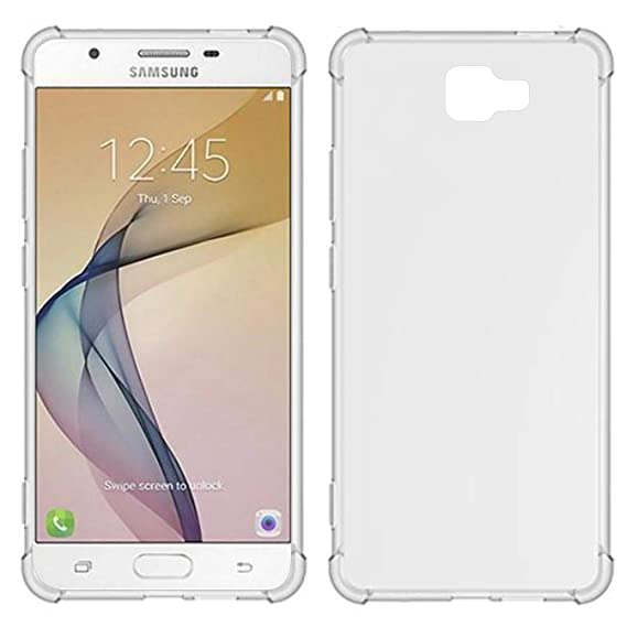 TIYA Case Clear for Samsung J7 Prime G610F TPU Four Corners Cover Transparent Soft