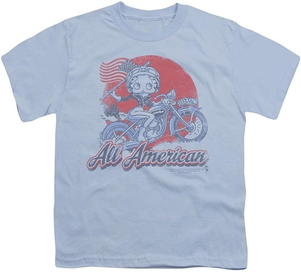 All American Biker Youth T-Shirt Betty Boop