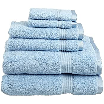 light blue kitchen towels 100 soft cotton 6 towel set light 6965