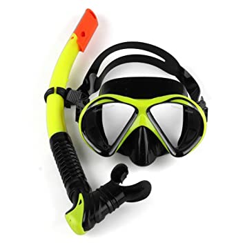 YouPei Conjunto de Snorkel, máscara de Buceo Vidrio Templado y Snorkel semiseco, máscara respiratoria