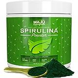 MAJU's Spirulina Powder - California Grown, Non-Irradiated, Non-GMO, Better than Chlorella, Pesticide-Free, Non Organic, Preferred over Hawaiian, Considered the Cleanest California Grown Spirulina