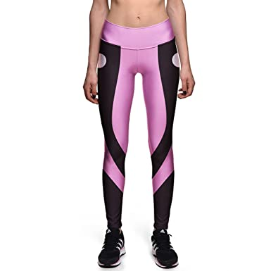 fbd9a9661f7b9 Image Unavailable. Image not available for. Color: Women's Pink And Black  Contrast Compression Pants ...