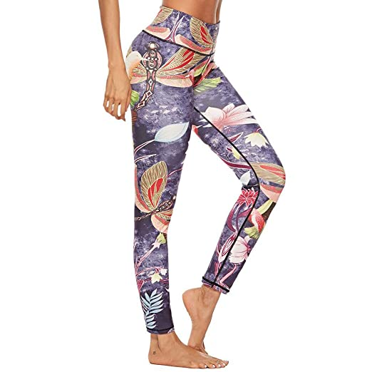 5ce561ca3a5 Kulywon Yoga Leggings Women Workout Chinese Retro Style Leggings Fitness  Sport Gym Yoga Athletic Pants at Amazon Women s Clothing store