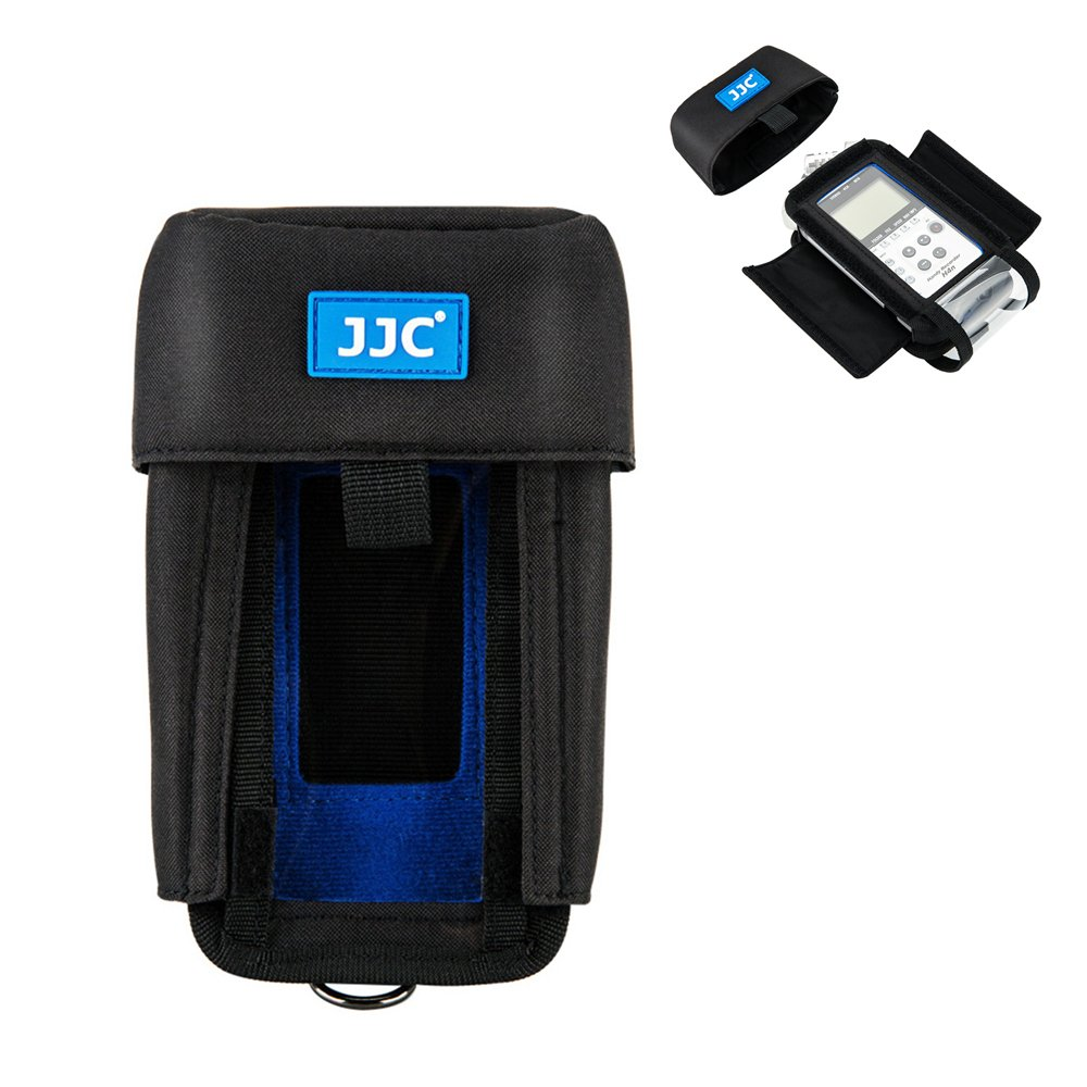 JJC Protective Pouch Case Bag for Zoom H4n, Zoom H4n Pro, Tascam DR-40 Handy Portable Recorder replaces Zoom PCH-4n Case, with See-Through Window Rain Cover Ltd.