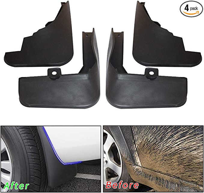muchkey no dril car mud Flaps for Mazda 2 Hatchback 2008-2013 Fender Flare Splash Guard 4pcs//Set