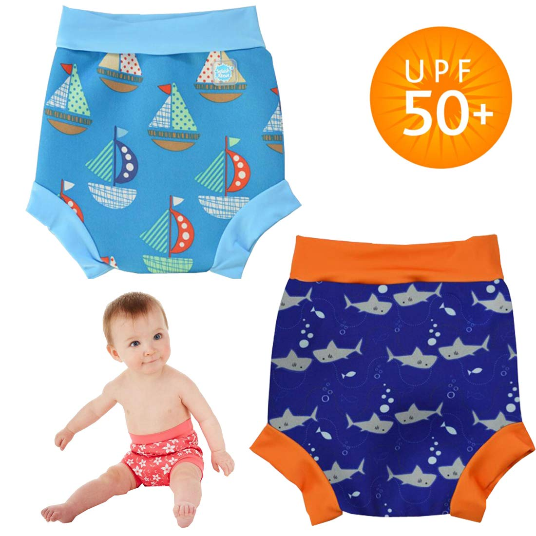 Baby Swimwear High-Waist Swim Trunks Eco-Friendly Swimming Shorts For Baby Boys