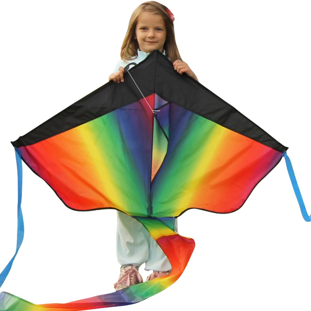 Huge Rainbow Kite For Kids - One Of The Best Selling Toys For Outdoor Games A.. 14