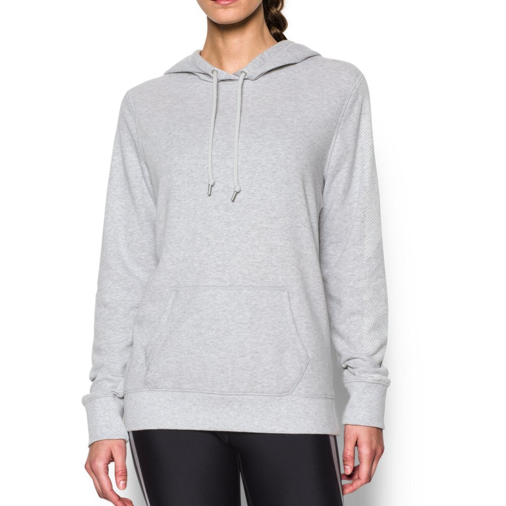 Under Armour Women's Favorite French Terry Popover, Air Force Gray Heath/Amalgam Gray, X-Small