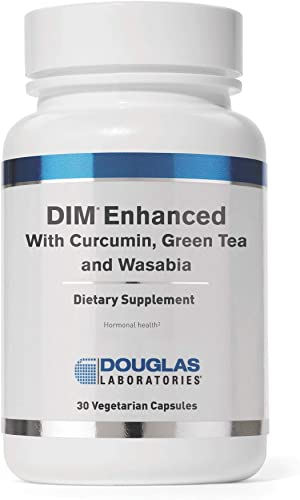 Douglas Laboratories – DIM Enhanced – with Curcumin, Green Tea, and Wasabia to Support Healthy Estrogen Hormone Balance and Immune Health – 30 Capsules