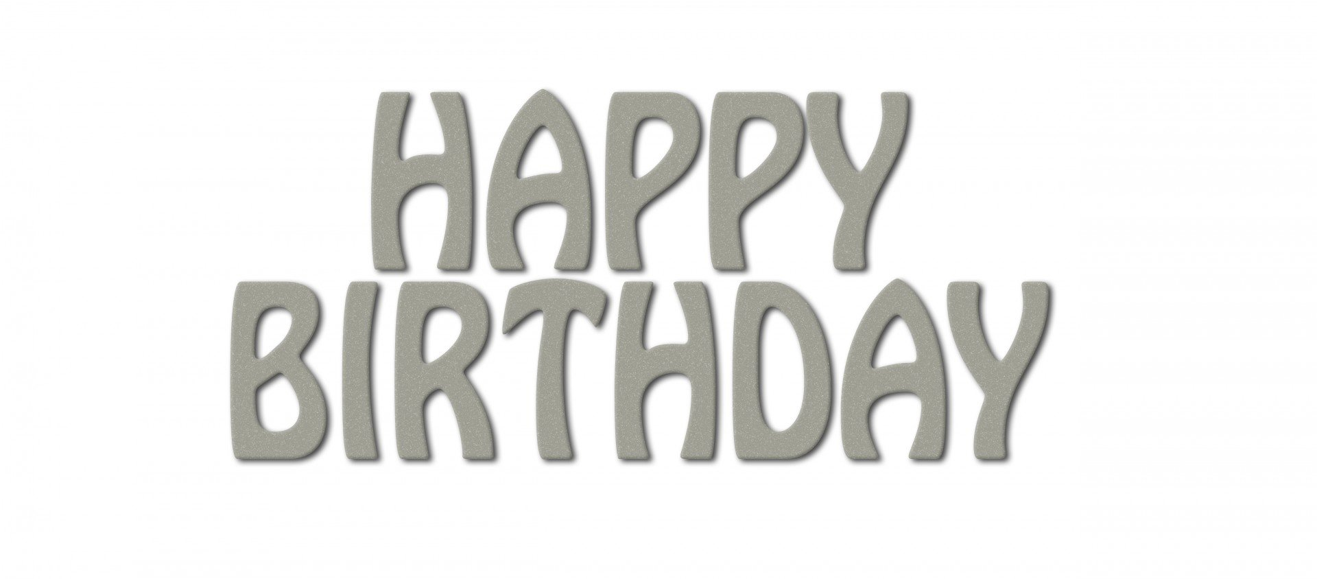 Home Comforts LAMINATED POSTER Happy Birthday Text Illustrations Poster Print 24 x 36 by Home Comforts