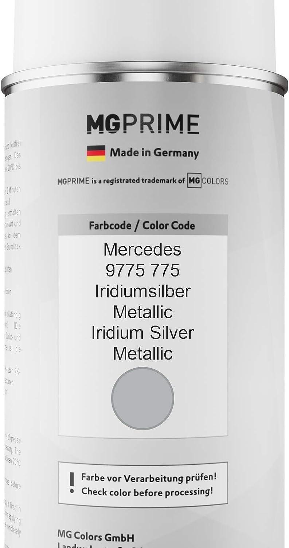 Mg Prime Autolack Sprühdosen Set Für Mercedes 9775 775 Iridiumsilber Metallic Iridium Silver Metallic Basislack Klarlack Spraydose 400ml Auto