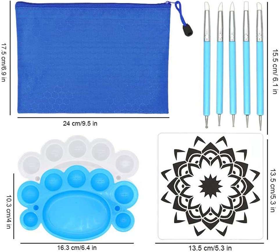 Opaltool Set mit 35 Mandala-Dotting-Werkzeugen Schablone Mandala-Malwerkzeug-Kits Pinsel-Set Malerpinsel f/ür Steinmalerei Malerei Malerei Zeichnen und Zeichnen