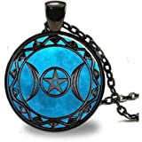 Art Tree Long Chain Women Pendant Necklace Vintage Bronze Charm Necklace Life of Tree Glass Necklace Jewelry for Women for Mom