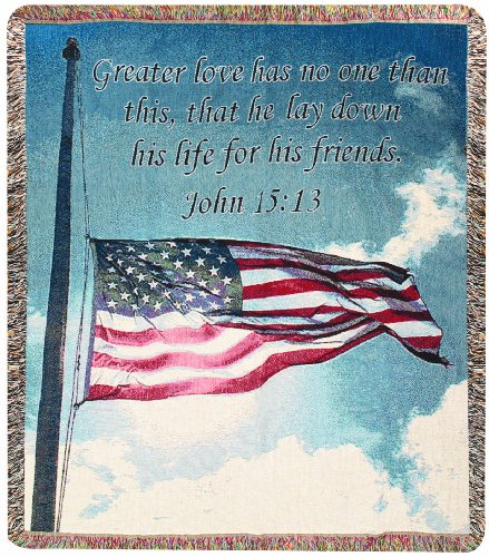 Manual 50 x 60-Inch Tapestry Throw, A Salute to Soldiers ()