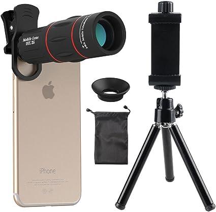 Lente de Cámara Telescopio Zoom óptico de 12x Kit de Trípode Para Iphone6s//6 //5