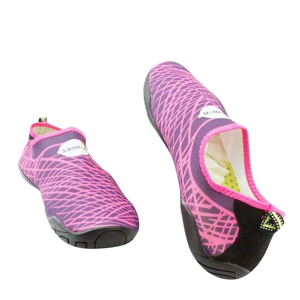 s.lemon Femmes Hommes Eau Chaussures Aqua Chaussures Le Yoga la Natation Marcher la Gym Chaussures Nager Chaussures Chaussures de plongée