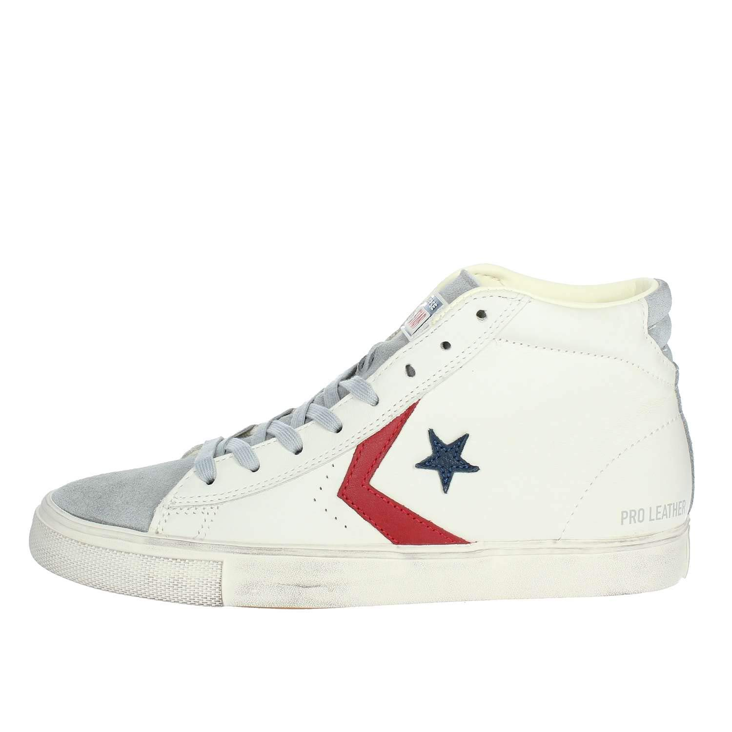 Converse Lifestyle Pro Leather Vulc Distressed Mid, Sneakers Sneakers Sneakers Basses Mixte Adulte 46 EU|Multicolore (Light Gray/Turtledove 036) b44c32