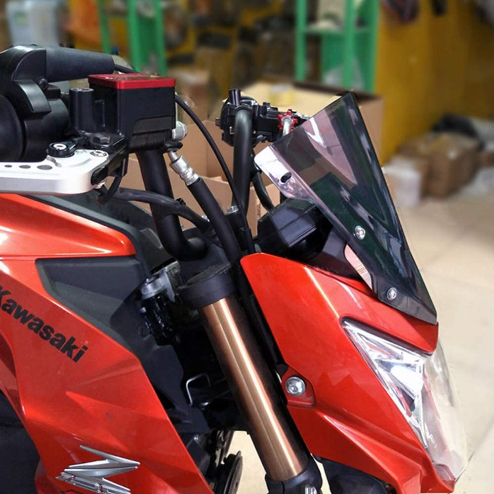 Motorcycle Windshield Windscreen Pare-brise Smoke For Kawasaki Z125 2015-2018