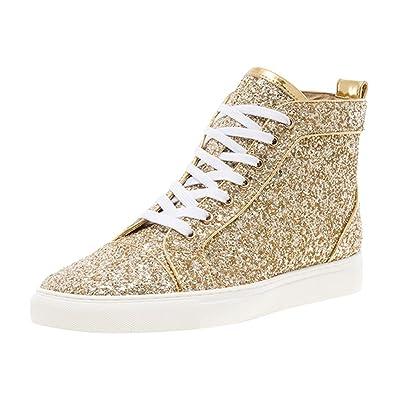 JUMP NEWYORK Men's Reuben Glitter High Top Sneaker | Fashion Sneakers