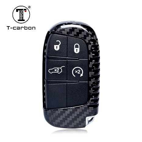 Jeep Grand Cherokee Key >> Carbon Fiber Key Fob Cover For Jeep Key Fob Remote Key Fits Jeep Compass Jeep Grand Cherokee Jeep Renegade Smart Keyless Start Stop Engine Car Key
