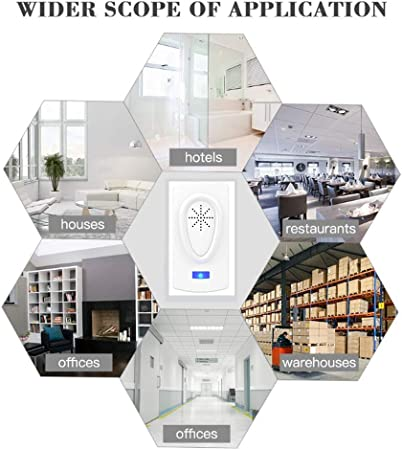 DRL Repelente electrónico de plagas, Paquete de 4, Repelente ultrasónico for Interiores Control de plagas for Insectos, arañas, pulgas, Moscas, cucarachas, Insectos, roedores: Amazon.es: Hogar