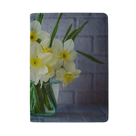 Hermosa Narciso Blanco Bloqueo de Flores Imprimir Funda para ...