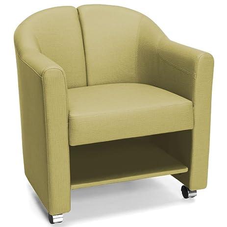McAlister Vinyl Lower Shelf Mobile Club Chair Leaf Polyurethane Dimensions:  26.5u0026quot;W X 25u0026quot