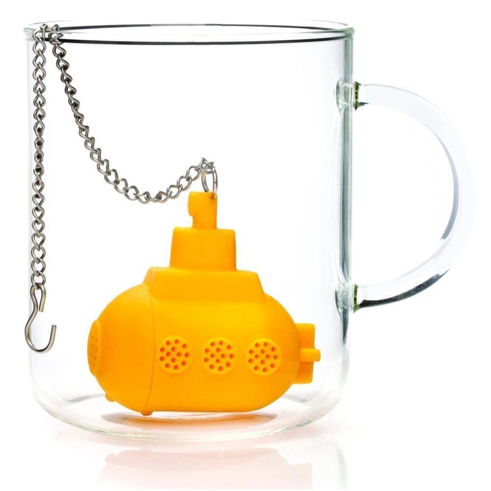 Salesland High Quality Silicone Yellow Submarine Tea Infuser