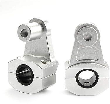 Argento satinato Qii lu Manubrio modificato per moto retr/ò in lega di alluminio diametro 22 mm