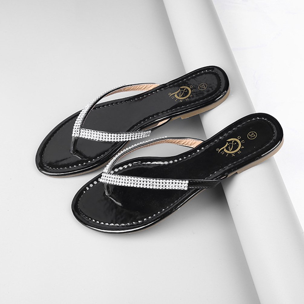 add087698 LvRao Women Slippers Casual Rhinestones Flip Flop Summer Beach Holiday  Sandals  Amazon.co.uk  Shoes   Bags