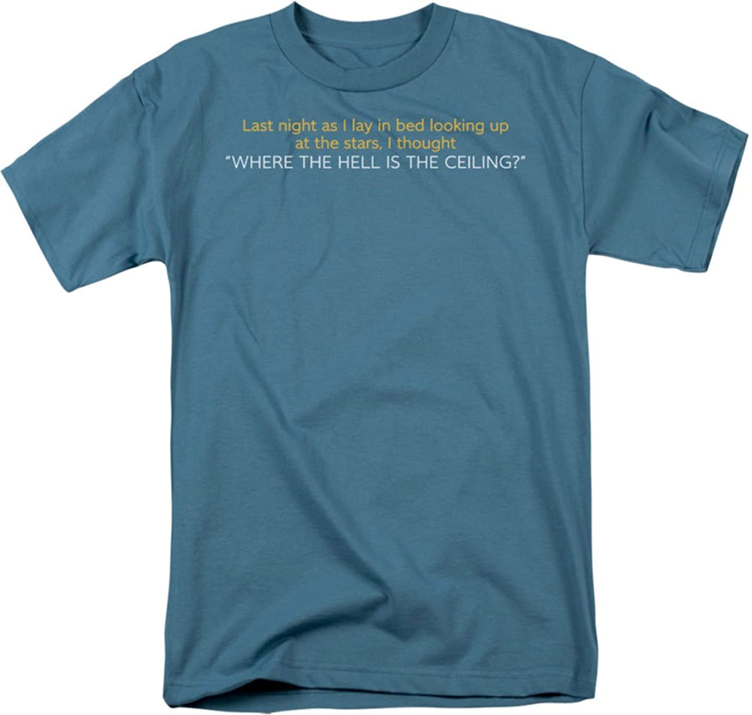 Funny Tees - Mens Where Is The Ceiling T-Shirt