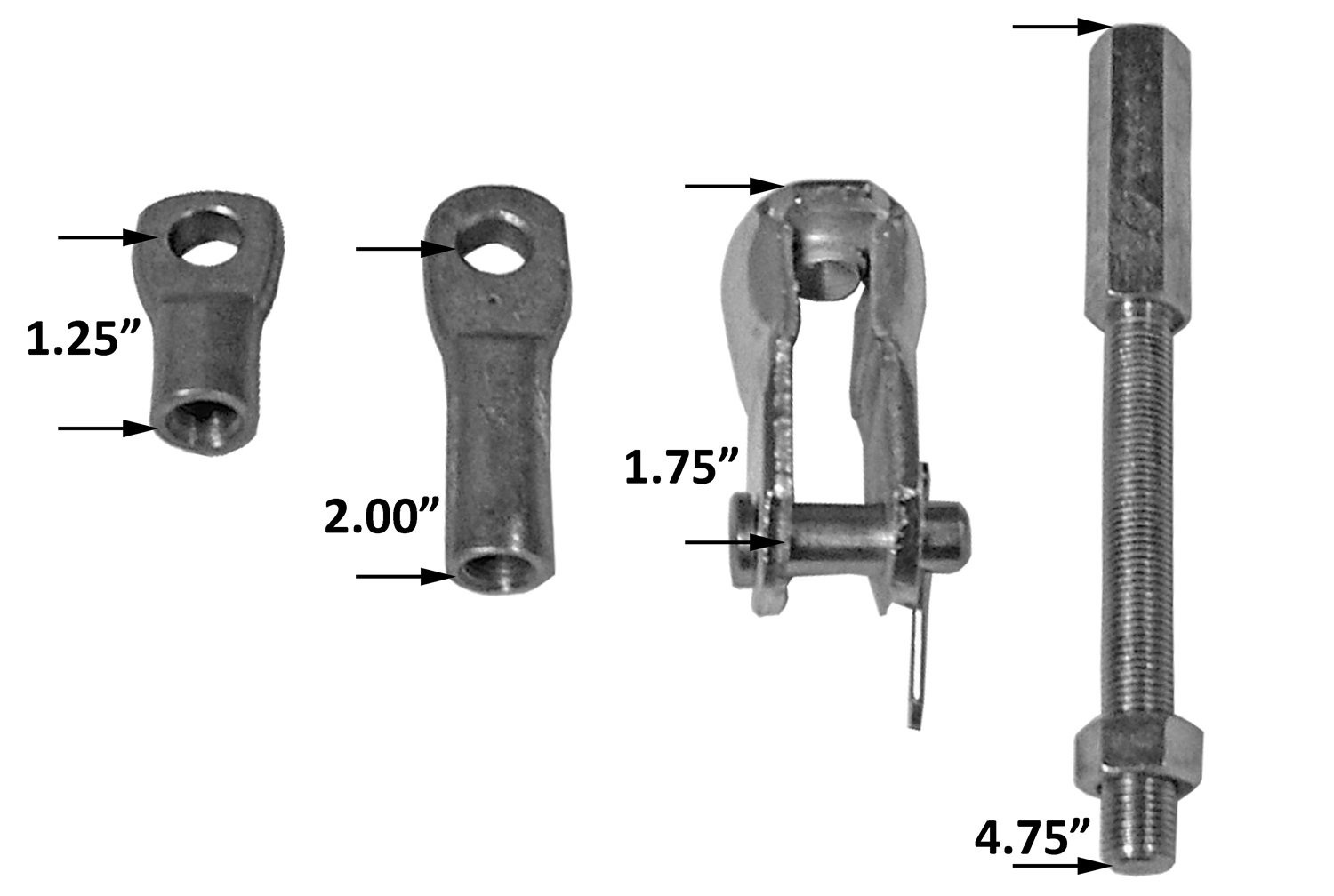 Tuff Stuff 4750 Universal Brake Booster Rod and Clevis Kit