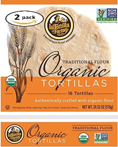 La Tortilla Factory Traditional Flour Organic Tortillas 2-Pack (32 ()