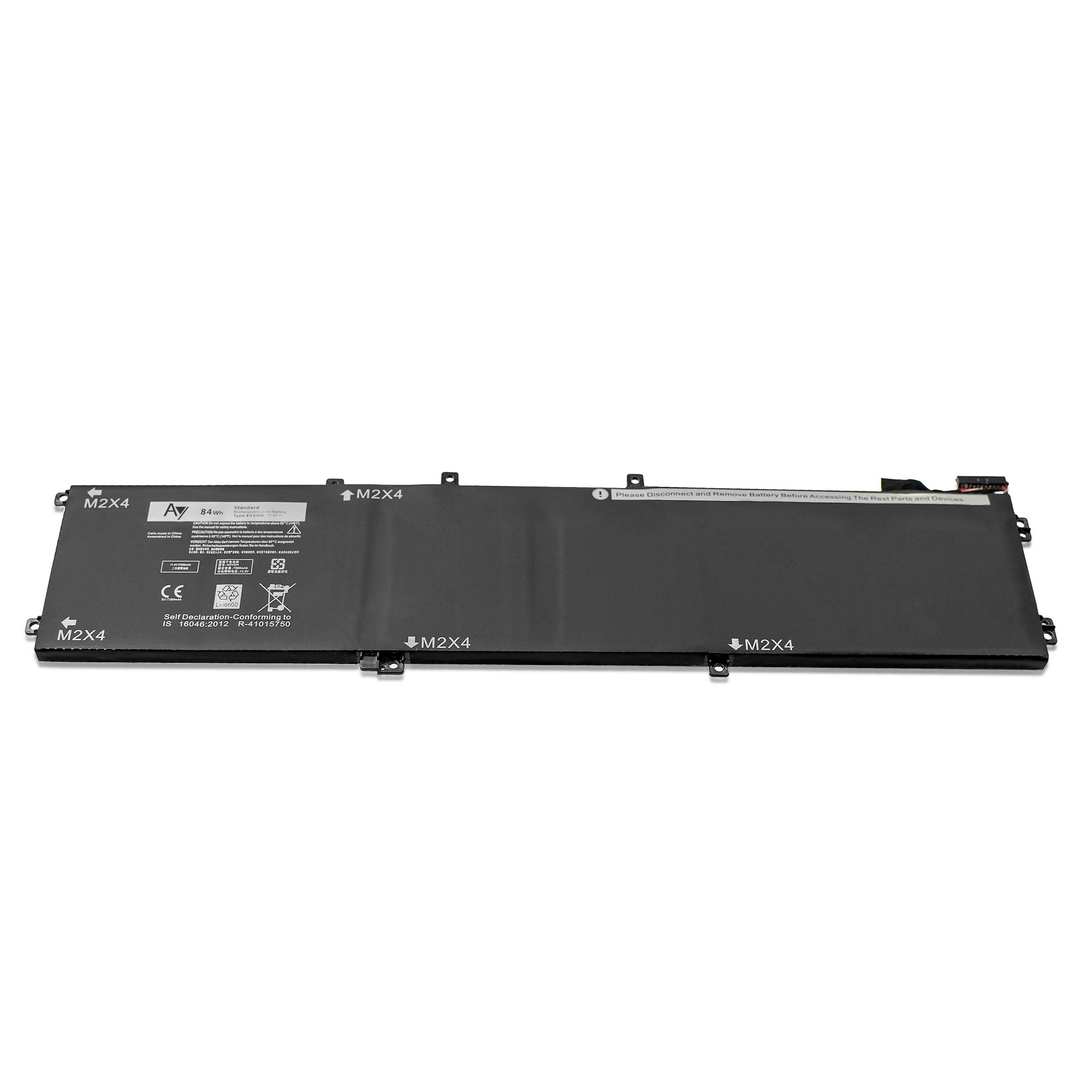 AY 4GVGH Battery [11.4V / 84WH]. AY High-Performance Replacement Laptop Battery Compatible Dell Precision 5510, Dell XPS 15 9550 Series, Fits 4GVGH 1P6KD by AY (Image #3)