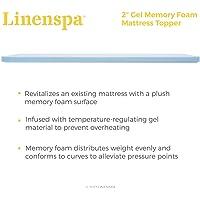 Linenspa 2 Inch Gel Infused Memory Foam Mattress Topper