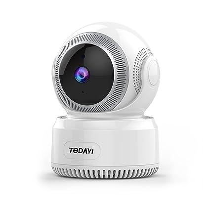 Wifi Wifi Cámara 1080P HD Nanny Cámara vigilabebés Cámara IP Wireless Vigilancia con pan Tilt Detección