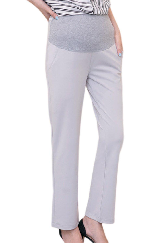 Fanvans Womens Maternity Dress Pants Bootcut Office Trousers Grey XL